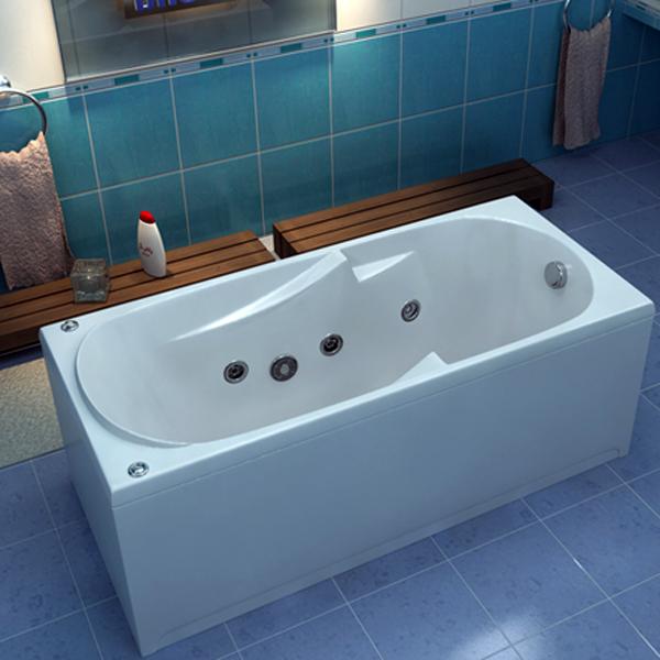 Ванна акриловая с гидромассажем BAS Нептун 170х70 см