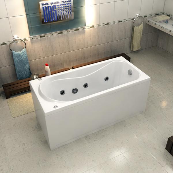 Ванна акриловая с гидромассажем BAS Верона 150х70 см
