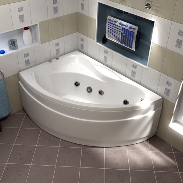 Ванна акриловая с гидромассажем BAS Вектра 150х90 см