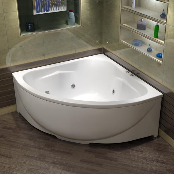 Ванна акриловая с гидромассажем BAS Империал 150х150 см