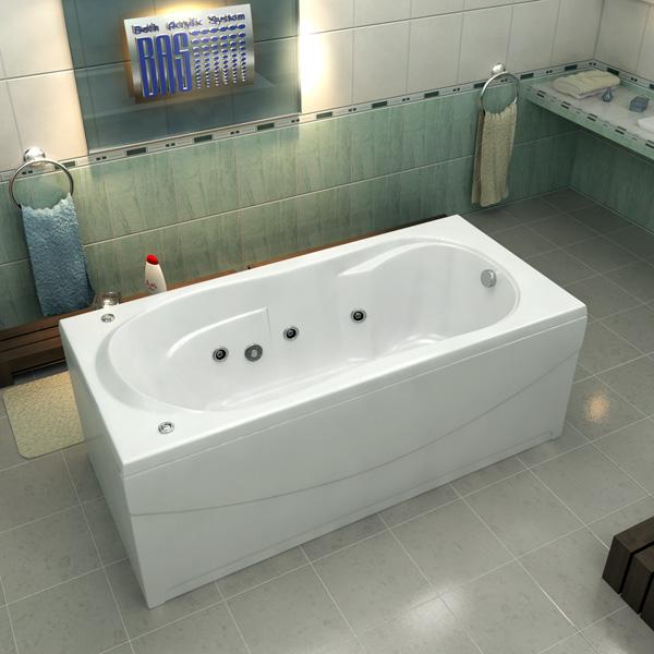 Ванна акриловая с гидромассажем BAS Ахин 170х80 см