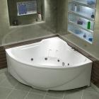 Ванна акриловая с гидромассажем BAS Ирис 150х150 см