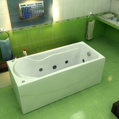 Ванна акриловая BAS Мальта 170х75 см