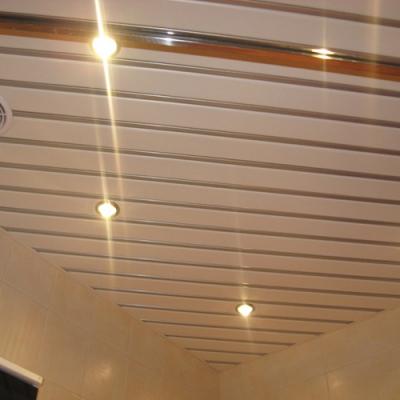 Комплект реечного потолка 1.72х1.5 белый матовый+хром зеркальный