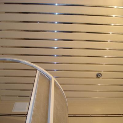 Комплект реечного потолка 1.72х1.7 белый матовый+хром зеркальный