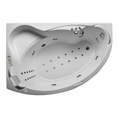 Ванна акриловая c гидро/аэромассажем 1Marka Catania 150х105 см
